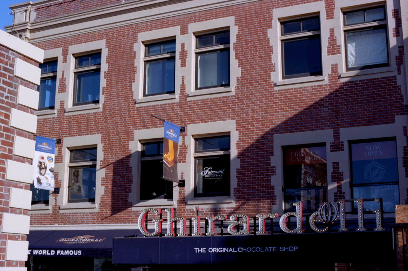 Windows at Ghirardelli Square.