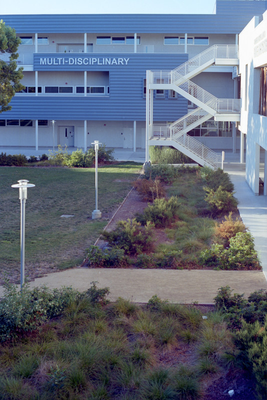 Multi-Disciplinary Building and garden at San Jose City College.